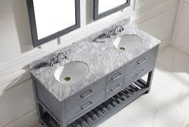 grey double sink vanity. virtu usa 60\ grey double sink vanity e