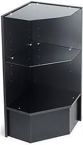 corner display unit black melamine