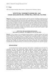 PDF) EFFETTI DEL TERREMOTO IRPINO DEL 1930: CAUSE GEOLOGICHE DEL DANNO  NELL'AREA DEL VULTURE EFFECTS OF THE 1930 IRPINIA