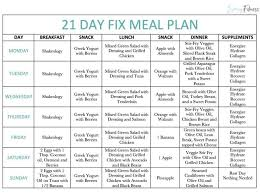 21 Day Fix Meal Chart 21 Day Fix Meal Plan How To Use The Containers Free