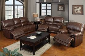 Mahogany Living Room Furniture Bonded Leather Motion Sofa Loveseat And Recliner Mahogany