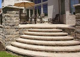 wall stair installation patio walkway dighton