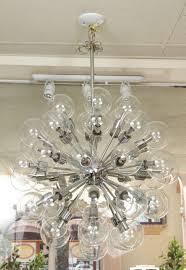 american vintage 43 globe sputnik chandelier by lightolier for