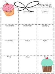 Birthday Reminder Chart Teaching Fashionista Guest Blogging Great Way To List All B Days
