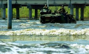 years after hurricane katrina the sea service response usni news marines aboard an assault amphibian vehicle venture through waves and polluted water through the devastated neighborhoods