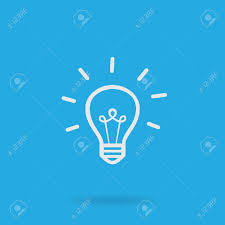 vector square blue icon lighting bulb. light bulb low icon vector square blue lighting