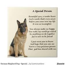 german shepherd dog special person poem ceramic tile