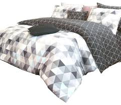 sets duvet cover queen grey duvet cover set queen reversible triangle pattern sateen duvet cover set queen charcoal and gray