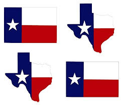 wheezeway Texas Lone Star State Flag Sticker ( 3x5 ) State Map (4.5 x 4.25) 4 Pack Auto Truck Jeep Suv Decal Truck