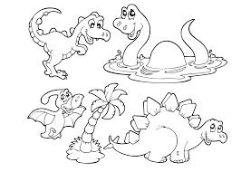 Erkbladen Gratis Kleurplaten Dinosaurussen Eenvoudig Kids