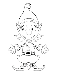Elf Coloring Pages At Free Printable Girl Scout Page Staranovaljainfo