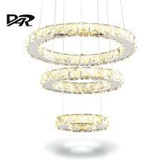 remote control chandelier lighting modern led crystal ring chandelier lighting remote control 2 3 rings crystal
