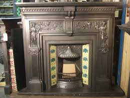 victorian peace and plenty victorian cast iron fireplace surround