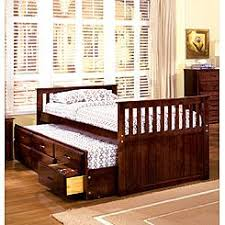 Furniture of America Batesville Cherry Captain Twin Bed with Trundle and  Drawers