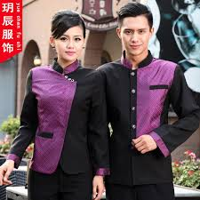 the hotel waiter fall and winter clothes long sleeved overalls restaurant waitress uniforms hotel front desk clothing in men s costumes from novelty