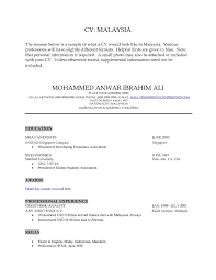 Examples Of Resumes Best Resume Format Malaysia Rsum Match