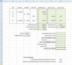 price estimate template building a simple estimating template in excel tm iv on estimating