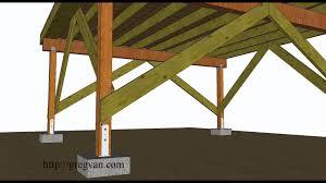 a few ways to brace off free standing wood framed deck
