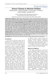 PDF) Graves' Disease in Albanian Children