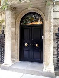 elegant double front doors. Gorgeous Black Doors In NYC~An Elegant Statement Starts At The Front Door! Make Sure You Get Door Too! Double