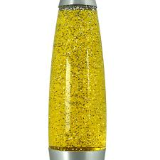 Innoteck 16 Soothing Motion Lava Lamp For Relaxation Silver Glitteryellow Liquid