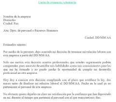 Ejemplo De Carta De Renuncia Voluntaria Ejemplos De Carta