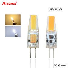 3w 6w g4 led diode bulb ac dc 12v flicker free cob led g4
