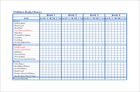 chore chart template for teenagers free chore chart template chore chart template 6 free pdf word