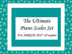 New Pay Scale Chart 2017 18 Complete Piano Scales Cards For Abrsm Exams 2017 18 Grades 1 To 8