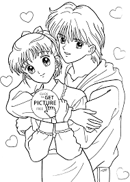 Small Picture Miki and Yuu from Marmalade boy coloring pages for kids printable