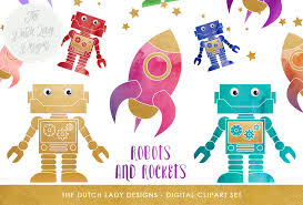 Download free svg icons and use them in your projects. Robot Rocket Clipart Set Cute Space Images Graphic By Daphnepopuliers Creative Fabrica