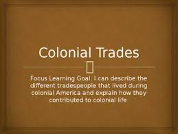 Image result for colonial trades sign