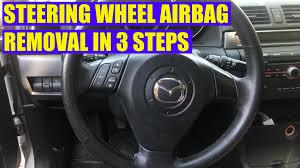 How To Remove Mazda 3 Mazda 6 Steering Wheel Airbag In 3 Steps
