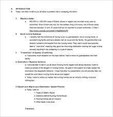 Template For A Speech Persuasive Speech Outline Template 9 Free Sample Example