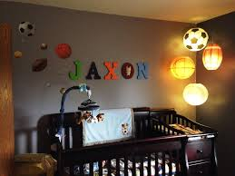 sports themed nursery lighting