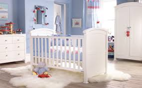 Long Windows Blue Baby Boy Nursery Furniture White Drawer Shelf Massive  Curtain Carpet Fur Including Cot Bed