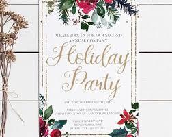 Company Christmas Party Invite Template Holiday Party Invite Etsy