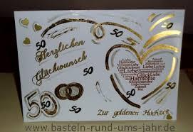 Glückwunschkarte Zur Goldenen Hochzeit Basteln Rund Ums Jahr