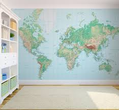 office world map. World Map Wallpaper Eclectic London By Wallpapered Office E