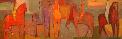 movements themes abstract horse paintings