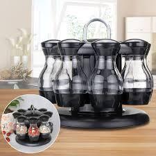 8pcs Household Condiment Set Pepper And Salt Cruet Plastic Kitchen