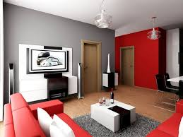 Interesting Modern Living Room Black And Red Comely Decorated With Grey To Perfect Ideas
