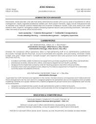 Free Administration Manager Resume Example