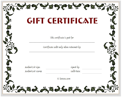 gift card template free customizable gift certificate template asptur com