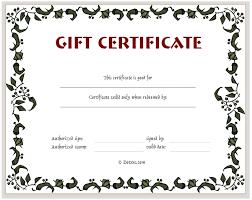 gift card template free customizable gift certificate template asptur com