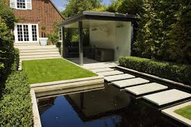 Small Picture Charming Modern Garden Design With Pool Including Backyard