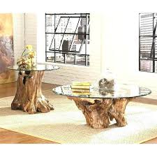 tree trunk coffee table tree stump tables with glass tops tree stump coffee table with glass