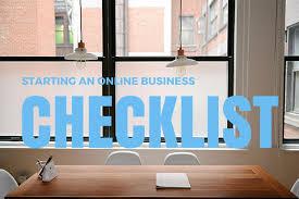 Starting An Online Business Checklist Sample