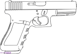 Image Of Coloring Page Gun Gun Coloring Pages For The Little