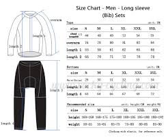 Sleeve Chart Size Guide Rocky Cycling Online Store